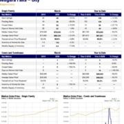 Niagara Falls NY Real Estate Sales Statistics for March 2020